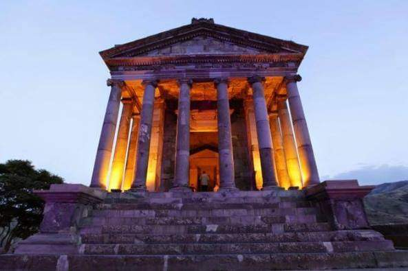 Garni. Still Standing Pagan Temple in Armenia